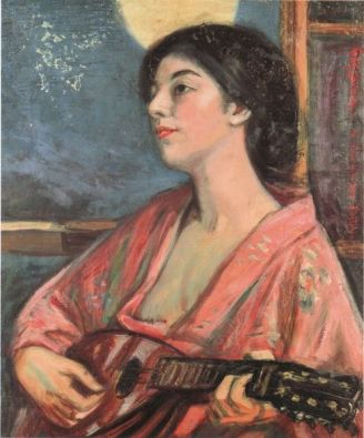 woman-playing-mandolin
